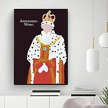 IFUNEW Canvas pictures Queen Wall Art Print King