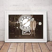 IFUNEW Canvas pictures Wall Art Back to the Future
