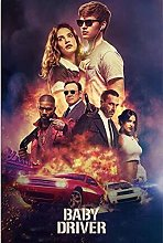 IFUNEW Wall art prints Baby Driver Classic Movie