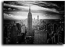 IFUNEW Wall art prints Black and White Building
