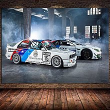IFUNEW Wall art prints Car Picture Poster and