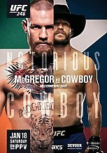 IFUNEW Wall art prints Conor McGregor vs Cowboy