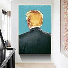 IFUNEW Wall art prints Donald Trump Poster Nordic