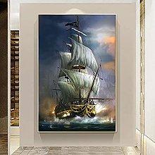 IFUNEW Wall art prints Pirate Ship Wall Art