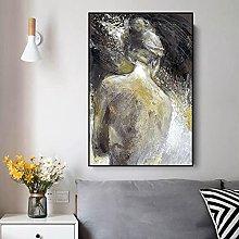 IFUNEW Wall art prints Print Abstract Naked Woman