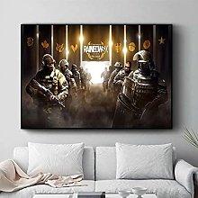 IFUNEW Wall art prints Rainbow Six Siege Video