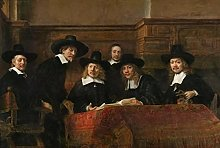 IFUNEW Wall art prints Rembrandt The Syndics Art