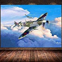 IFUNEW Wall art prints Spitfire Aircraft Poster