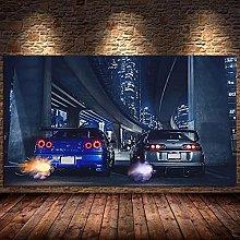 IFUNEW Wall art prints Wall Art Supra Vehicle