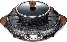 IG BBQ Hot Pot Dual Pot Barbecue Hine,Non-Stick