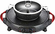 IG Hot Pot Electric Indoor Grill 2200W Separable