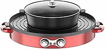 IG Nonstick Round Grill Pan with Lid Electric