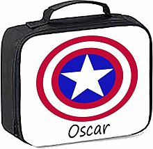 igerlilyprints Kids Personalised Lunch Bag, Marvel