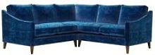 Iggy Small Corner Sofa in Navy Filigree