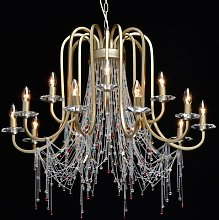 Ightham 15-Light Crystal Chandelier Rosalind