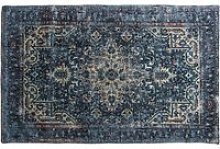 Iglezia Small Fabric Upholstered Rug In Dark Teal