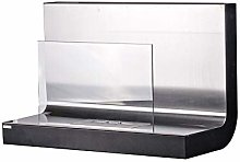 Igneous Wall Mounted bioethanol Fireplace with a
