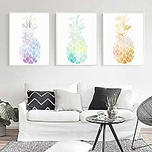 IGNIUBI Beautiful Color Pineapple Wall Art HD
