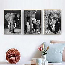 IGNIUBI Elephant Poster Animal Wall Art Canvas