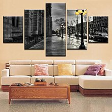 IGNIUBI Home Decor Print Painting Vintage Street