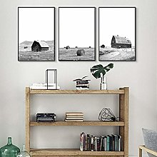 IGNIUBI Modern Farmhouse Posters Print Decor Black