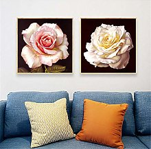 IGNIUBI Rose Flower Poster Nordic Painting Wall