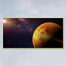 IGNIUBI Wall Art Canvas Earth Poster Mars Universe