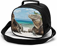 Iguana Reptile Reptiles Lunch Bag for Boys and