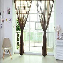 IHEHUA 1 PC Pure Color Tulle Door Window Curtain