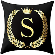 iHENGH 2019 Romantic Pillow Cover Black and Gold