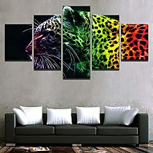 IIIUHU Canvas Picture -5 Piece Abstract Color