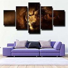 IIIUHU Canvas Wall Art 150x80cm Modern 5 Piece