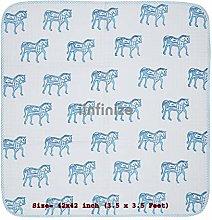iinfinize Horse Design Kids Quilt Home Toddler