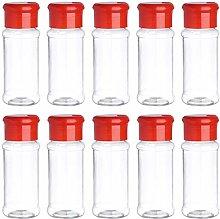 iixpin Plastic Spice Jar Kitchen Condiment Storage