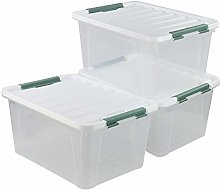 Ikando 35 Litre Large-capacity Clear Storage Bin