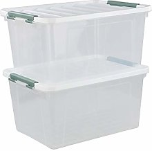 Ikando 60 Litre Large-capacity Clear Storage Bin