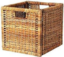 Ikea BRANÄS Rattan Basket, Brown, 32 x 32 x 34 cm
