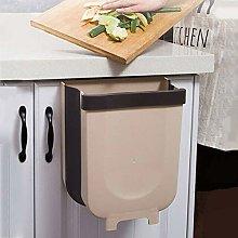 iKustar Trash Can,Hanging Foldable Trash Bin Wall