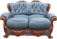Illinois 2 Seater Italian Leather Sofa Settee