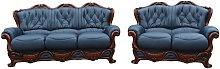 Illinois 3 Seater + 2 Seater Italian Leather Sofa