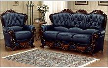 Illinois 3 Seater + Armchair Italian Leather Sofa