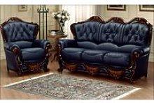 Illinois Italian Leather Sofa Settee Offer