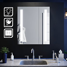 Illuminated Bathroom Mirror Cabinet with Light and