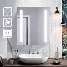 Illuminated Bathroom Mirror Cabinet with Light +