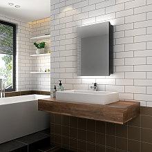 Illuminated Bathroom Mirror Cabinet with Lights, Wall Mounted LED Bathroom Mirror with Shelf, 500 x 700mm, Shaver Socket - Elegant