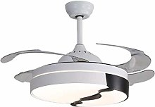 Illuminated Ceiling Fan 42-inch Modern Retractable