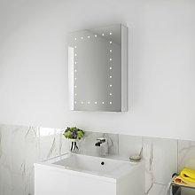 Illuminated LED Bathroom Mirror Cabinet Stainless