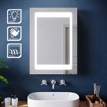 Illuminated LED Bathroom Sliding Mirror Cabinet