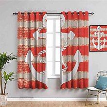 ILMF Blackout Curtain Set With Eyelet, Anchor