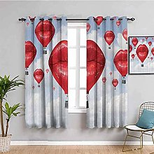 ILMF Blackout Curtain Set With Eyelet, Blue Hot